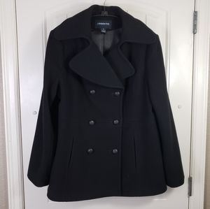 London Fog Wool Double-breasted Peacoat